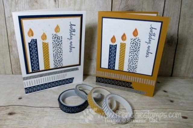 Washi Tap candles Stamping technique 101 Hop