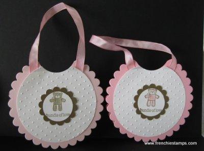 Baby Bundle with Scallop Circle Die Bib