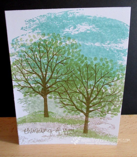 Thick card Stock, Sheltering Tree, Watercolor Wash