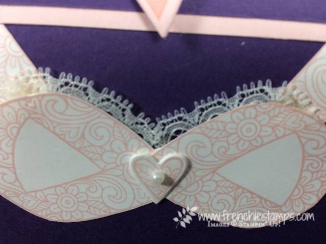 October Breast Cancer Awareness, Ribbon of Courage, Paper Bra, Stampin'Up!