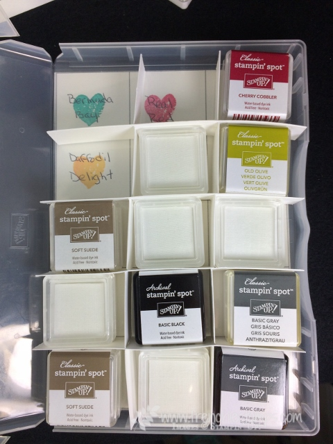 Stampin' Spots Storage, Clear Case, Paper Pumpkin, Frenchiestamps,  Stampin'Up!
