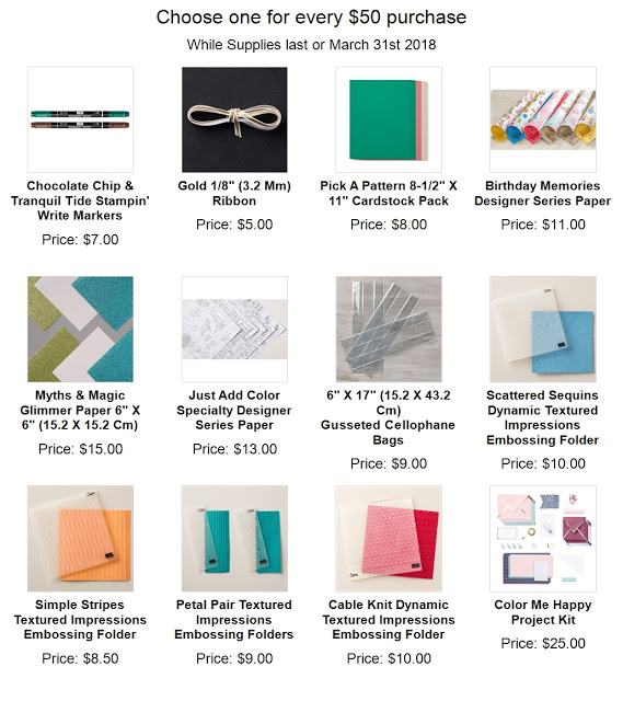 New add on Stampin'Up! sale a bration 2018