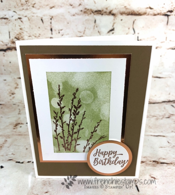 Bokeh Dots, Country Road, Southern Serenade, Stampin'Up!, Frenchie Stamps, How to Video,
