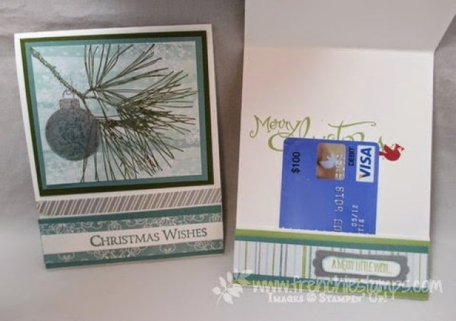 Hide away gift card pull card