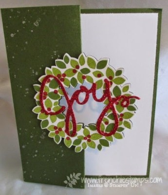 Flip card with Wondrous Wreath