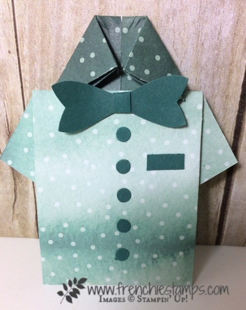Paper Men Shirt greeting Cards, Frenchiestamps,