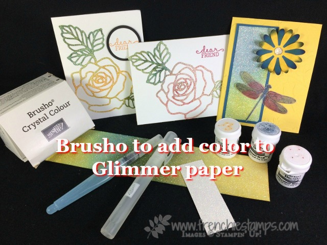 Dazzling Diamond Glimmer Paper, Brusho Glimmer paper, Stampin'Up!, Frenchie Stamps,