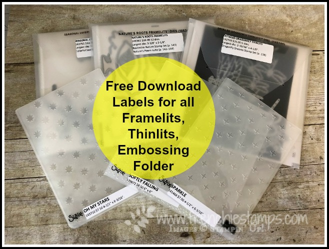 Organize Your Stampin'Up! Framlites and Embossing Folder