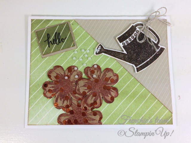 Frenchie' Team, Grown with Love, Flower Shop, Stampin'Up!, Foil Frenzy Designer paper,