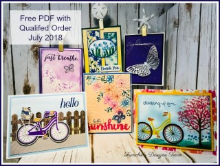 Frenchie's Team customer Appreciation, Abstract Impression, Springtime Impressions Thinlits, Stampin'Up!