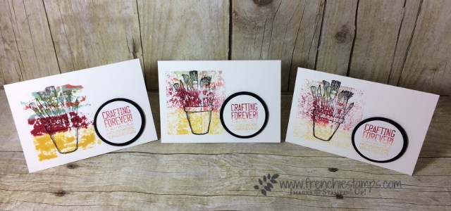 Crafting Forever, Baby wipe with ink, Stampin'Up!
