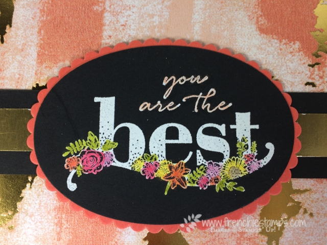 Happy Wishes, Technique, Stampin' Blends, Painted with Love designer paper, Stampin'Up!, Frenchie Stamps,