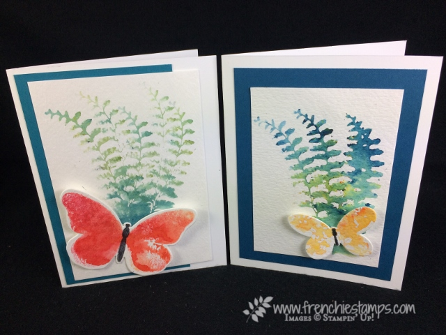 Butterfly Basic, watercolor wings, Brusho, Bold Butterfly Framelits, butterflies thinlits, Brusho, Stampin'Up!