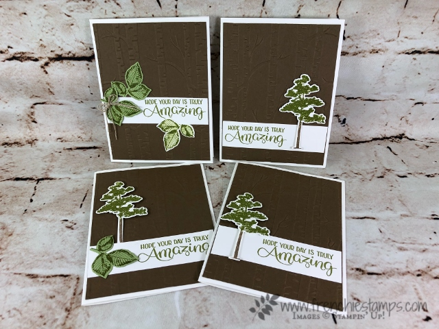 Rooted in Nature, Woodland Embossing Folder, Stampin'Up!, Frenchie Stamps,