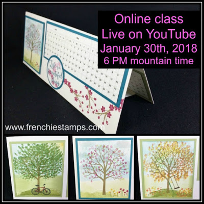 Desk Top Calendar DIY, Frenchiestamps, sheltering Tree,