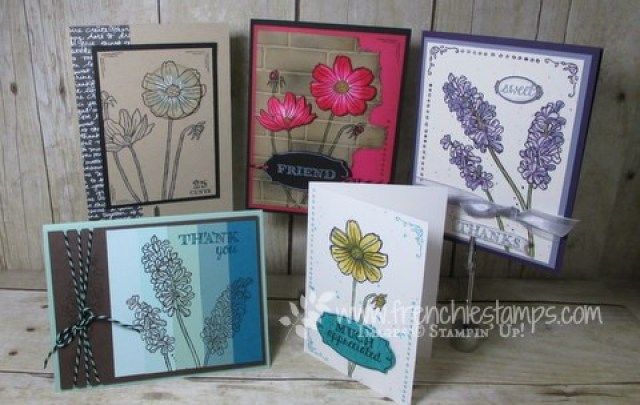 Helping me grow, Stamping class in the mail, Frenchiestamps,