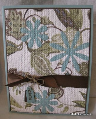 Inlaid Embossing with Paisley Petal