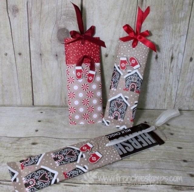 Christmas Chocolate bar easy wrap