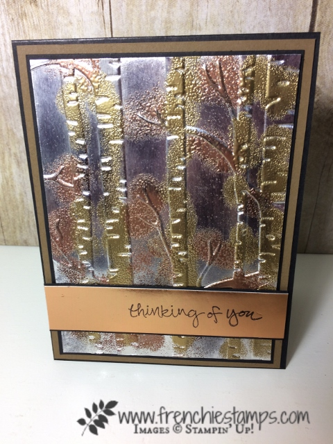 Tarnish Silver, Technique, woodland embossing folder, Stampin'Up!, Frenchiestamps