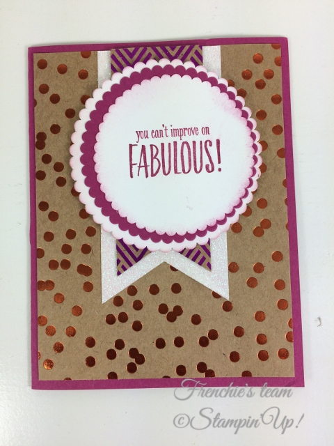 Frenchie' Team, You've Got Style, Stampin'Up!, Foil Frenzy Designer paper,