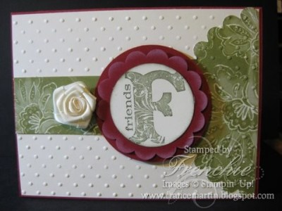 Stampin'Up! DSP Paisly Petals with Vintage Vogue