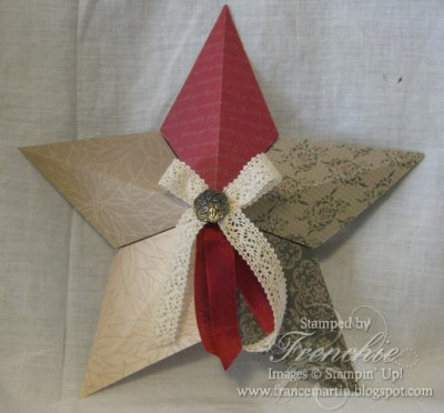 Big Shot 5-Point 3-D Star plus quilting sample.