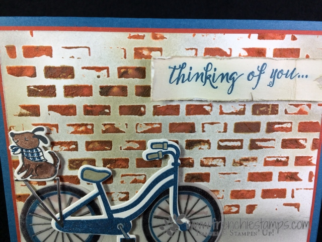 Bike Ride, Brick Wall, Frenchie Stamps, Stampin'Up!,