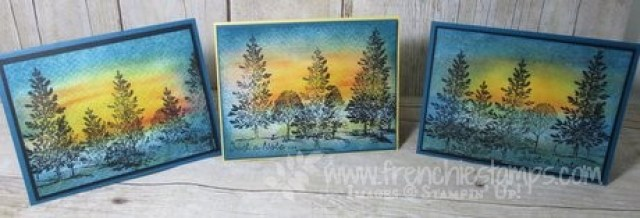 Lovely as a Tree, Sunset, Stampin'Up!