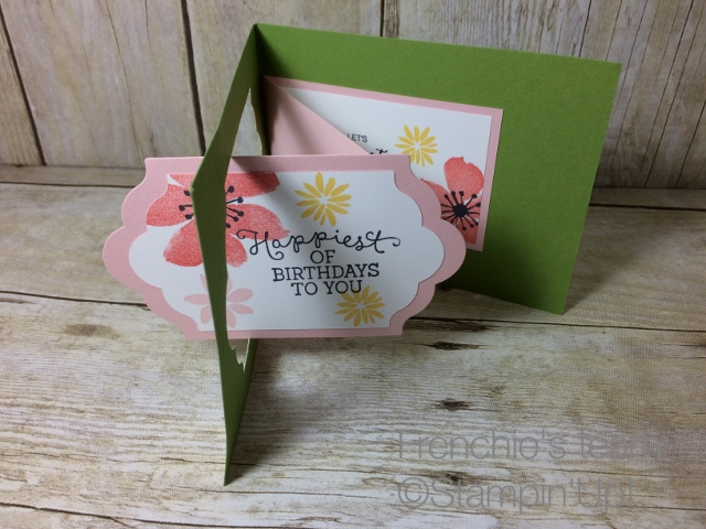 Swing Card, Bloom & Wishes stampin'Up!