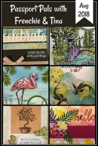 Customer Appreciation Passport Pals, Frenchie stamps, Peaceful Place, beautiful You, Tropical chic, Fabulous flamingo, All teh good Things, Stampin'Up!