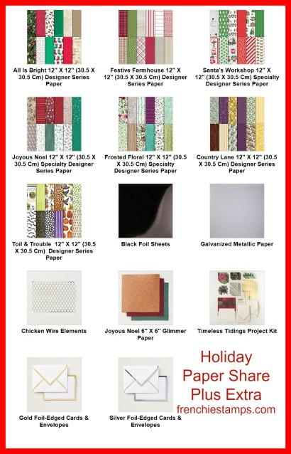 Holiday Designer Paper Share Plus
