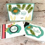 How to use the Stitched Seasons with Painted Harvest and Floral Frames stamp set. Note cards and a-2 size card. All Stampin