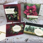 see how quick it is to make the Timeless Tidings card kits. This is the most beautiful Christmas card kit I seen in a long time. All product by Stampin