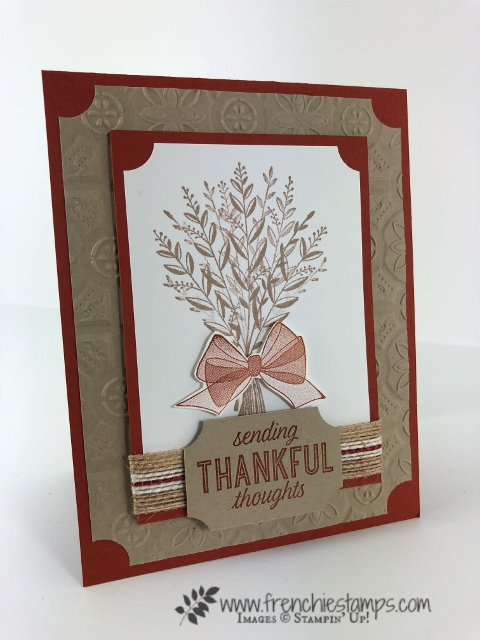 Fall cards from Leader Group swaps. Wishing Well Stamp set. All supplies by Stampin'Up! and can be purchase at frenchiestamps.com