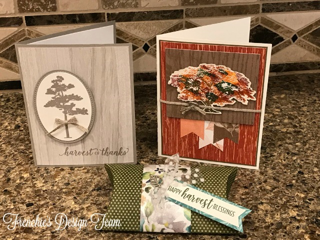 New release, Frenchie' customer appreciation for the month of  October  2018. Nature Wonder, Fall cards and project. All product are by Stampin'Up!