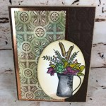 How to make the Patina Technique onto card stock. Very vintage look and amazing look. Stamp set Country Home Home. All supplies are from Stampin