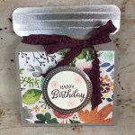 How to make a Jar Card for a gift card holder. This is the wide jar. Using the envelop punch board. All supplies by Stampin