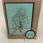 stamping with shimmer paint. Perfect for frost on a tree. All product by Stampin