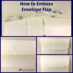 How to emboss a envelop flap. Yes it is okay to mail and will stay emboss in the travel. Product by Stampin