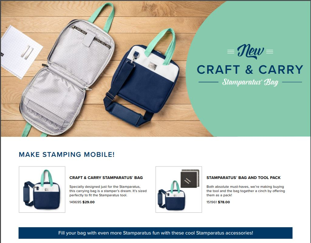 Stamparatus Bag by Stampin'Up!