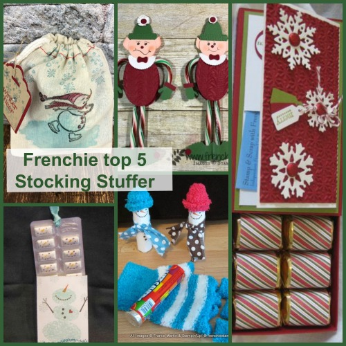 Frenchie Top 5 Stocking Stuffer. DYI with paper. Frenchiestamps.com
