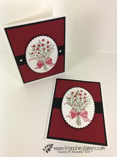 Oval Frame for the Wishing You Well stamp set. elegant greeting card. All product by Stampin'Up! Available at frenchiestamps.com #wishingyouwell #stampin'up! #frenchiestamps