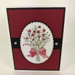 Oval Frame for the Wishing You Well stamp set. elegant greeting card. All product by Stampin