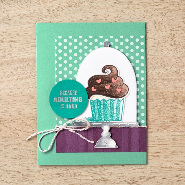Limited Edition Stampin'Up! products. Hello Cupcake and Call me Cupcake Framelits. Available At frenchiestamps.com