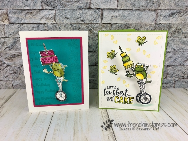 How to make a wobble card using the Hop Around Framelits and So Hoppy Together. Also I used the Amazing Life and Piece of cake. Product by stampin'Up! available at frenchiestamps.com