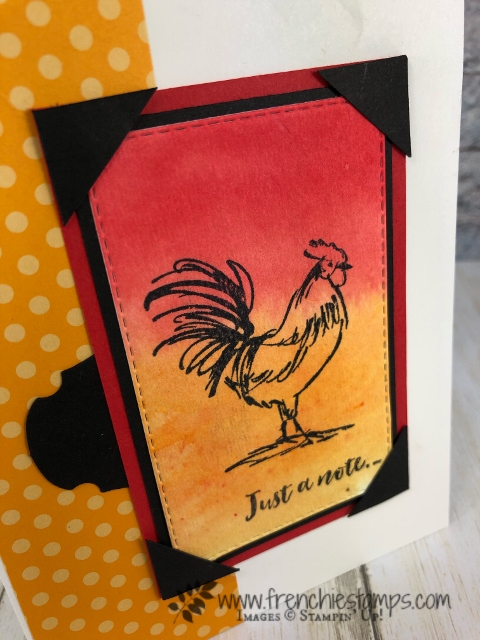 Corner Pocket and background Brusho. stamp set Home to Roost. All product by Stampin'Up available at frenchiestamps.com