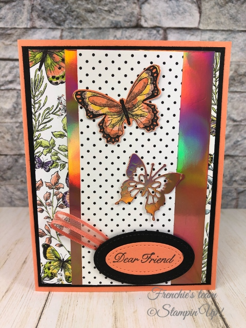 Frenchie's Team showcasing the Grapefruit Grove & Lovely Lipstick Foil Sheets from Sale a Bration. Foil sheet can be yours for free with qualified order. All products by stampin'Up! available at frenchiestamps.com