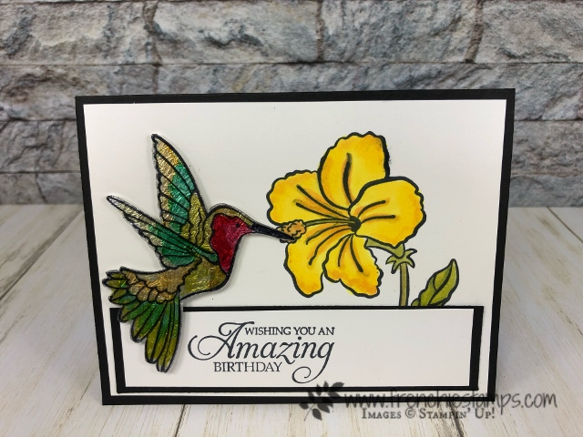 Learn to how to make a Stain Glass look with window sheet and foil. Color with Stampin' Blends. All products by Stampin'Up! available at frenchiestamps.com