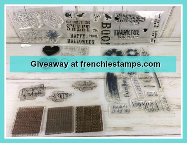 Paper Pumpkin Stamp set giveaway at frenchiestamps.com