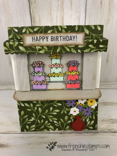 How to make a Cake Stand Card. Stamp set Hand Delivered and Amazing Life by Stampin' Up! available at frenchiestamps.com